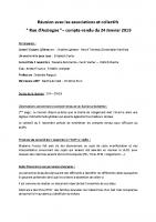 compte rendu de la réunion associations & collectifs du 24/01/2019