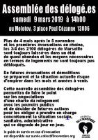 affiche Assemblée Générale des Délogé.es du 09/03/2019