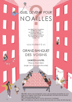 affiche pour le grand banquet des voisins du 6 avril 2019