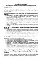 communiqué de presse inter-asso charte pour un Relogement Digne
