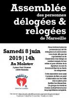 affiche du 8 juin Assemblée des délogées & relogées