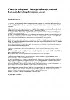 communiqué du 14 mai sur les négociations de la charte du relogement