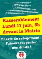 rassemblement du 17juin pour la signature de la charte du relogement – collectif du 5 novembre