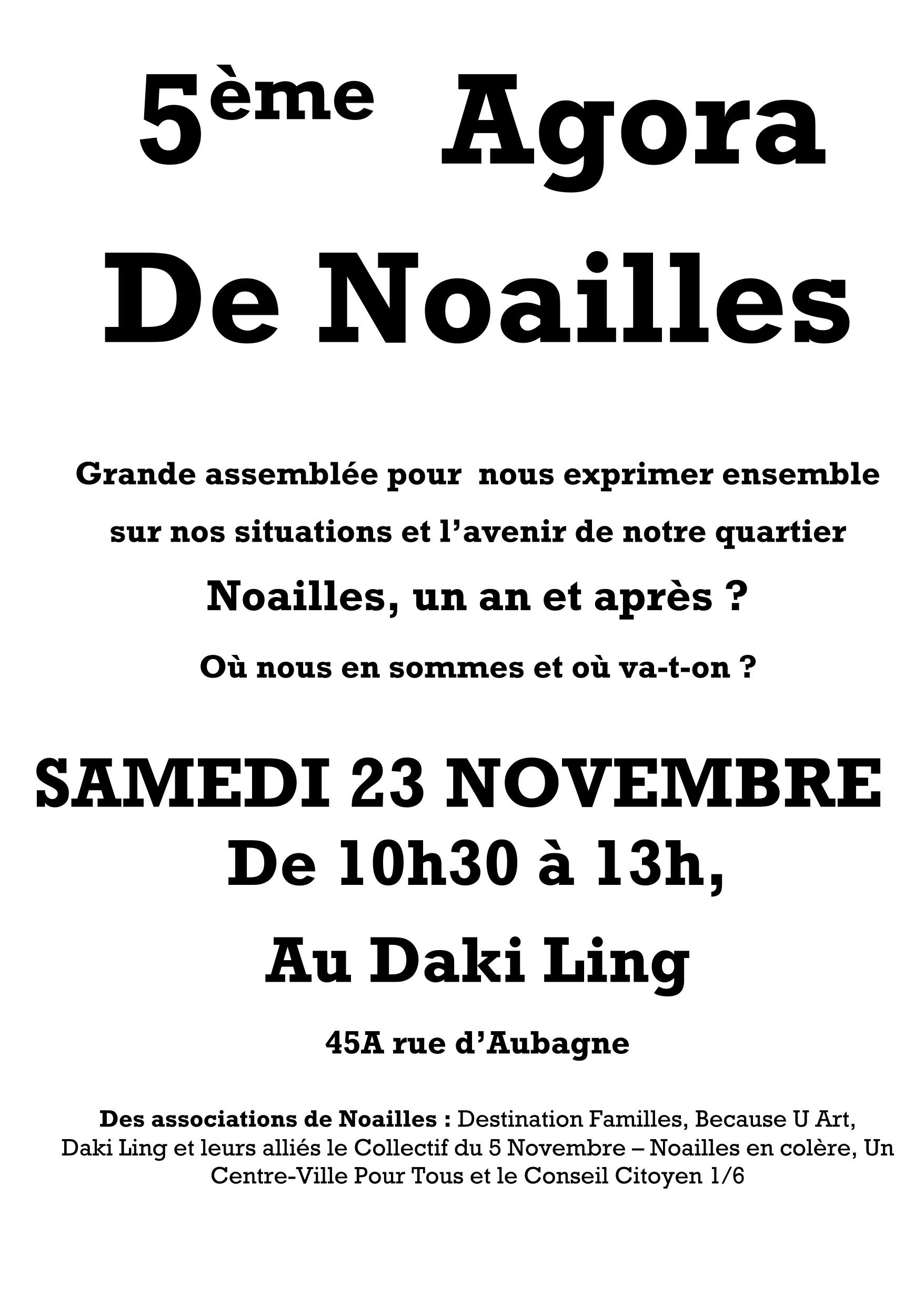 5e Agora de Noailles 23 nov 19