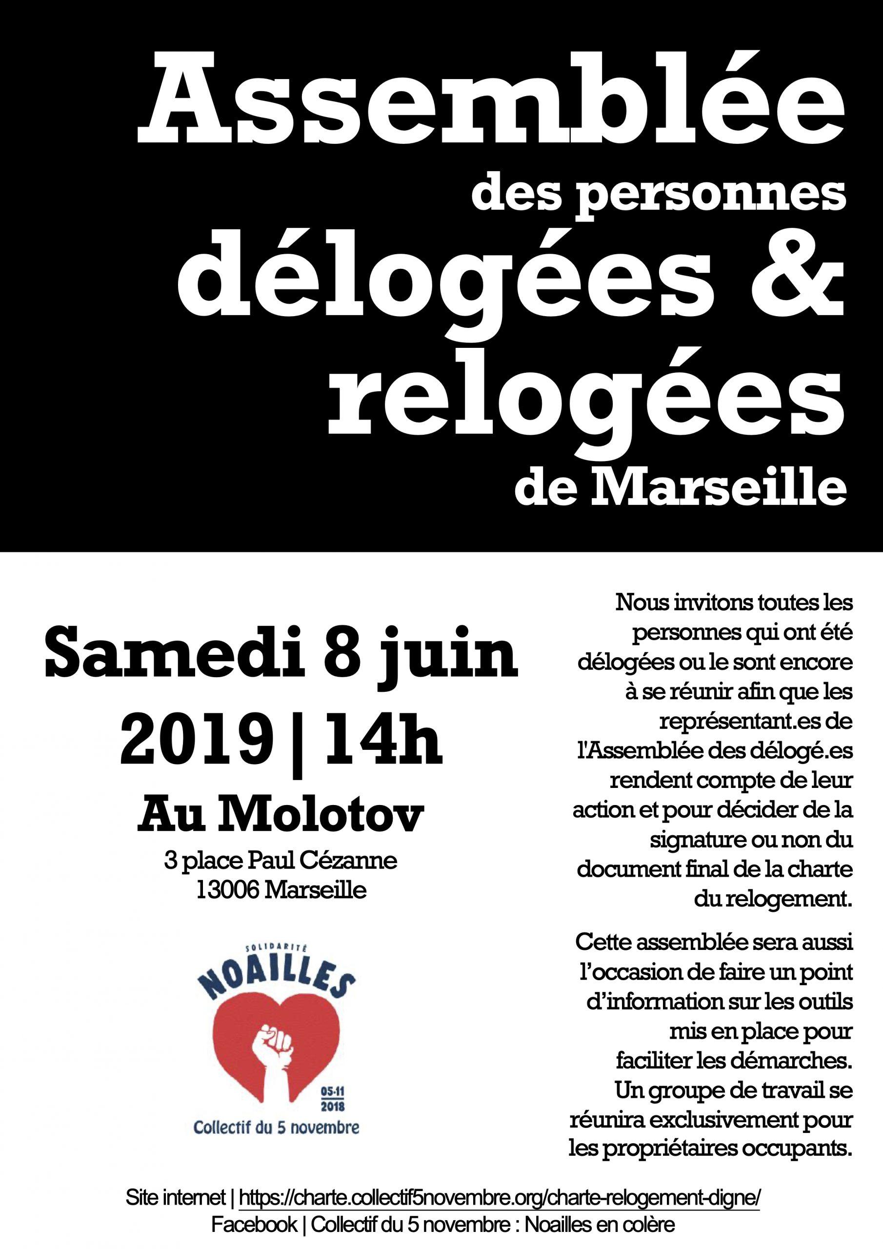 8 juin 19 Assemblée des délogées